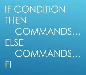 If..else.. statement in Bash shell scripting