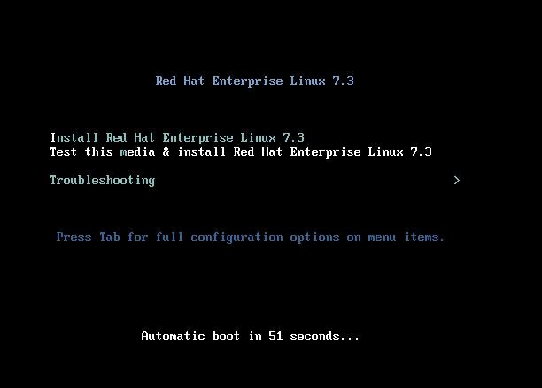 RedHat Enterprise Linux 7 Installation